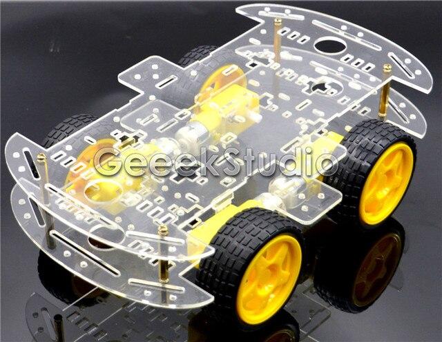 4 Колесный Робот Смарт Шасси Автомобиля Комплект Датчика Скорости DC 3 В 5 В 6 В для Arduino