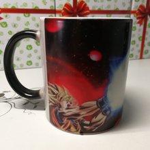 Anime Dragon Ball Z Color Changing Mug Super Saiyan Fighting Heat Sensitive  Ceramic Coffee Cup Christmas Gift 42217310978c