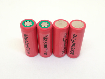 MasterFire 6pcs/lot Original Sanyo 18500 UR18500F 1600mah 3.7V Lithium Battery Rechargeable Batteries For Flashlights