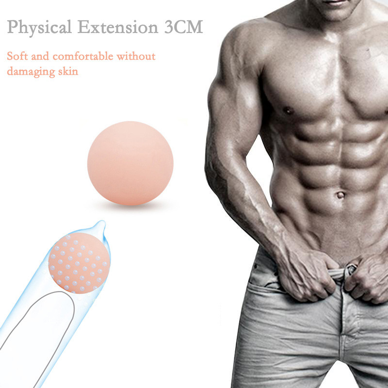 Shock Reusable Delay Condomm Extensionn Sleeves for Men Sex Toys X5.22