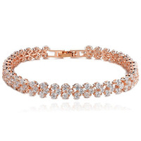 New Hot Clear Zirconia Crystal Gold Silver 9 Color Bracelets Bangles Roma Bracelet For Women Fashion