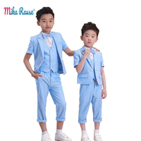 New Spring kids boys suits blazers boys brand formal suits short sleeve wedding party blazer ceremony suits for boys baby dress