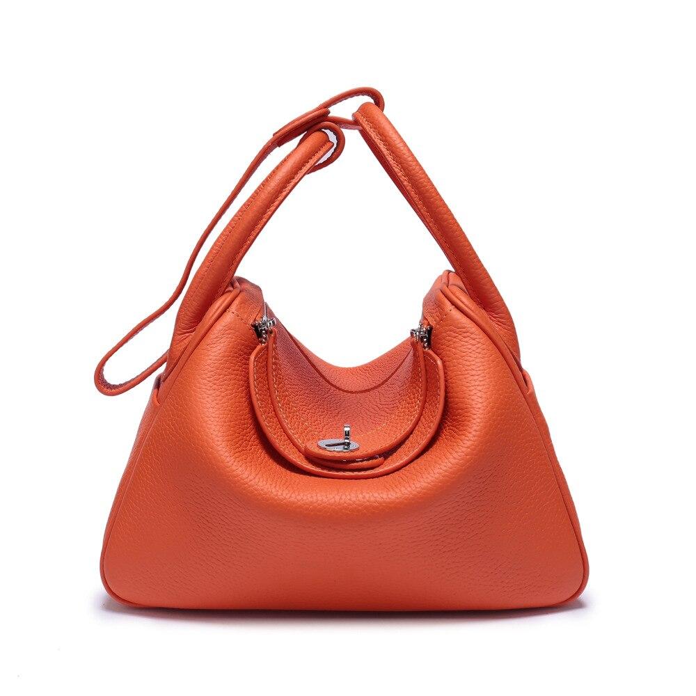 30abfe9f6653 2018Hot Распродажа 100% натуральная кожа сумки для женщин Мода большой  емкости Женская воловья сумка на плечо Личи шаблон мягкие сумки сумка