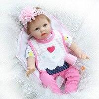 Silicone Reborn Baby Doll Lifelike Kawaii Newborn Alive Baby