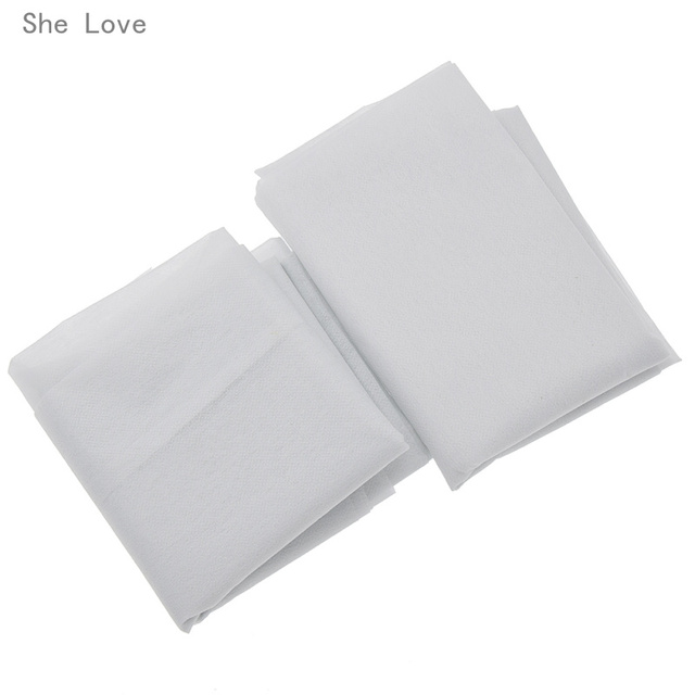 Chzimade 100cm 25g 45g White Non-woven Fabric Interlinings Iron On Sewing Patchwork Single-sided Adhesive Lining DIY 1