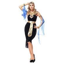 Umorden Carnival Party Halloween Egypt Cleopatra Costume Women Adult Egyptian Queen Goddess Costumes Cosplay Black Fancy Dress