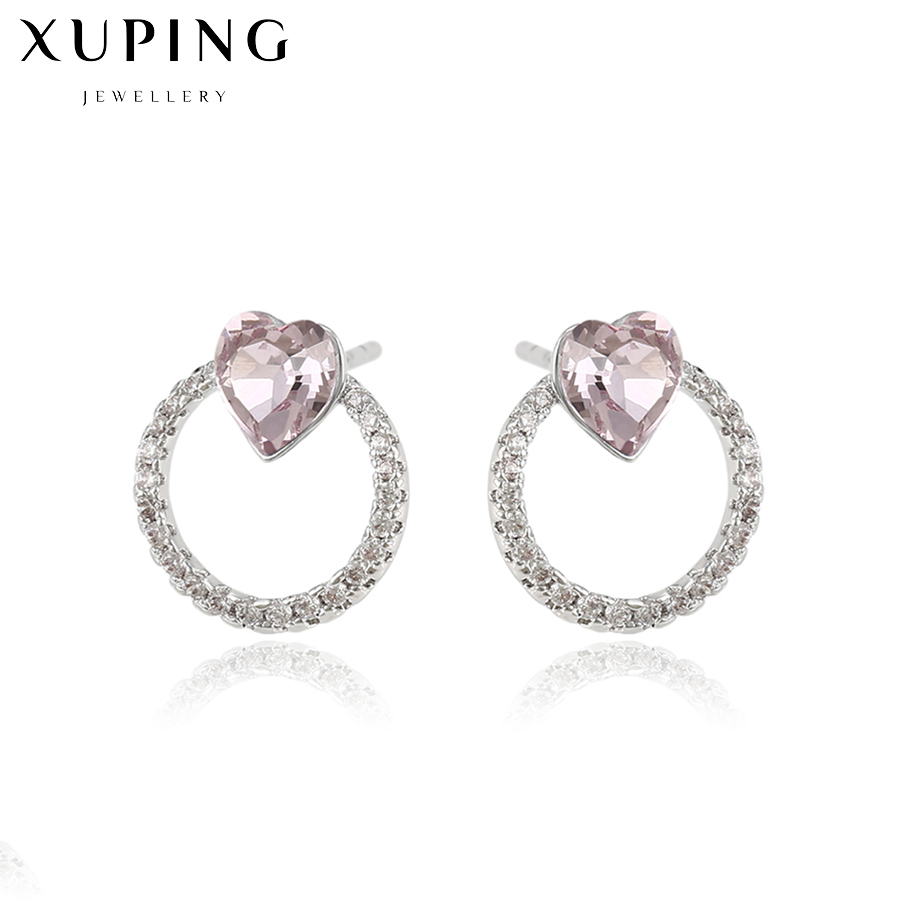 0bc966eeb Xuping jewelry stud earrings with blue heart stones vintage fashion  jewellry women's clothing accessories earring copper C017193-in Stud  Earrings from ...