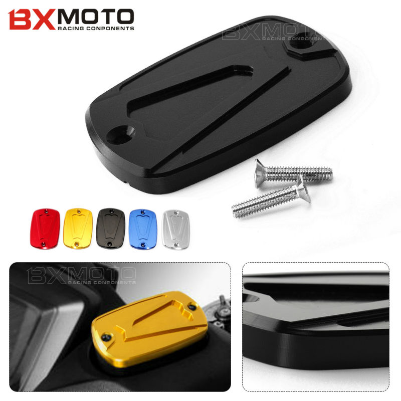Motorcycle accessories protector CNC Brake Fluid Reservoir Cap Cover For Yamaha Tmax 500 2008-2011 T-max 530 DX SX 2012-2018 motorcycle cnc magnetic engine oil filler cap moto bike engine oil cap for xjr fjr 1300 fzr 1000 tmax 530 500 tmax 530 tmax 500