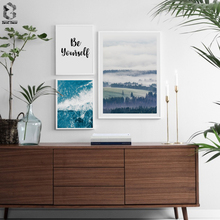 Sea Canvas Poster Nordic Print Minimalist Motivation Quotes Wall Art Painting Forest Landscape Scandinavian Decoration Picture