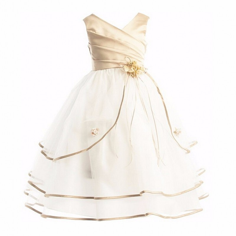2017 Flower Girl Dresses For Wedding Pageant Prom Party White Dress Baby Kids Clothes Little Toddler Children Formal Dress summer 2017 new girl dress baby princess dresses flower girls dresses for party and wedding kids children clothing 4 6 8 10 year