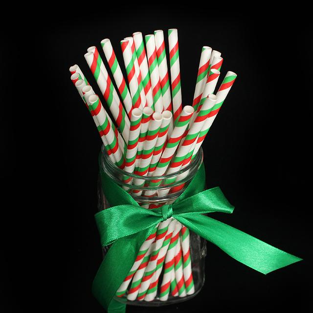 Striped Drinking Straws