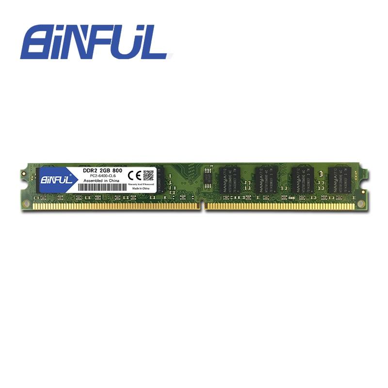 BINFUL DDR2 Ram 2 GB 800 MHz 1.8V 240Pin niet-ECC Desktopgeheugen - Computer componenten - Foto 6