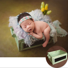 купить Vintage Newborn Baby Props Photography Double Sided Drawer Wood Sketchpad Newborn Props Boy Wool Blanket Photography Accessories по цене 2897.69 рублей