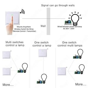 Image 5 - 433Mhz اللاسلكية RF التحكم عن بعد التبديل التيار المتناوب 110 فولت 220 فولت مصباح مصباح إضاءة ليد مفاتيح لاسلكية ممر غرفة المنزل ألواح للحائط التبديل