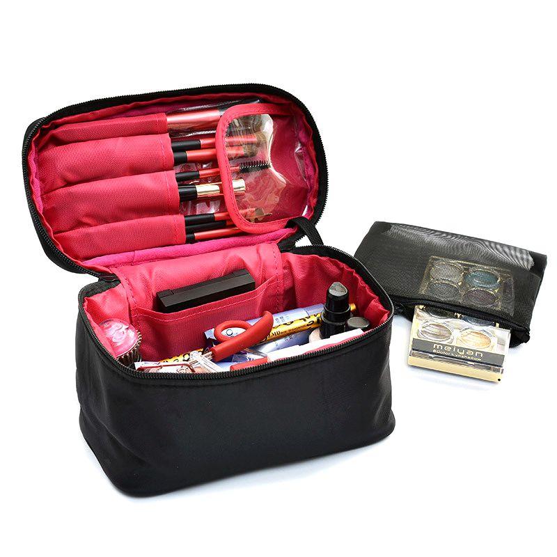 Women Travel Makeup Bag Professional Zipper Cosmetic Case Make Up Bath Organizer Storage Pouch Toiletry Wash Beauty Kit Bath Box