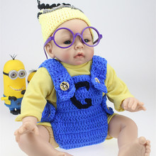 Handmade 50 55cm Eraly Education Silicone Reborn Baby Doll with Clothes For Kids Toys Cute Reborn