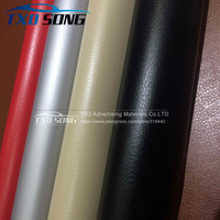 Good quality Leather pattern PVC vinyl wrap film sticker for auto car body internal decoration vinyl wrap free ship
