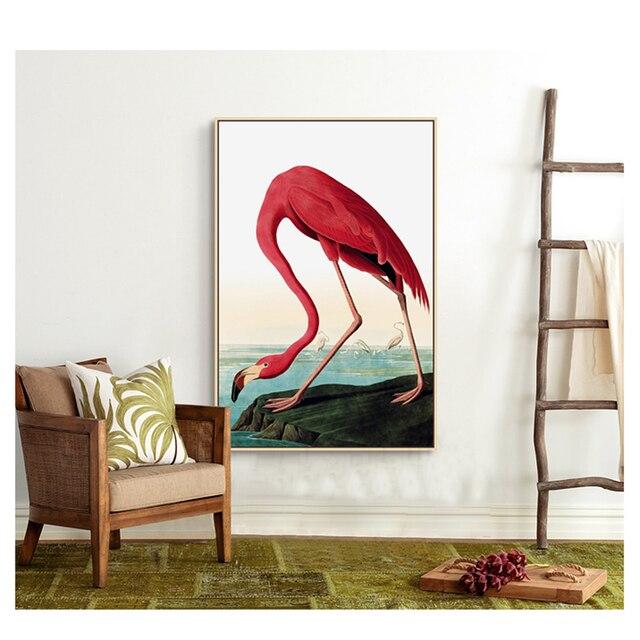 Flamingo Cerah Dicat Kanvas Cetak Lukisan Poster Dinding Gambar Seni Untuk  Ruang Tamu Rumah Dekorasi Bingkai dbb5559348