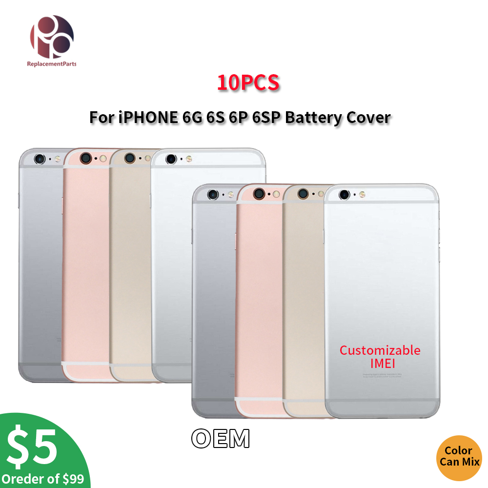 10PCS OEM Back Housing Battery Cover For iPhone 6G 6S 69 6S Plus Door Rear Cover