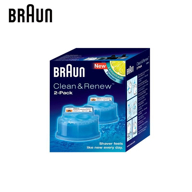Braun Clean & Renew Refill Cartridges CCR Replacement Cleaner for Bruan Electric Shaver with Automatic Cleaning Center аксессуар braun ccr 2 картридж для бритвы