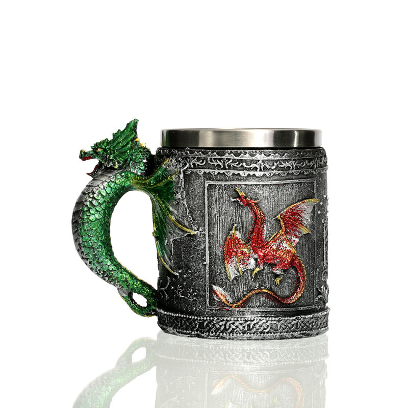Caneca Criativa 3D Design Medieval Dragon Mug 12oz Double Wall Coffee Cup Dragon Ball Z Cups