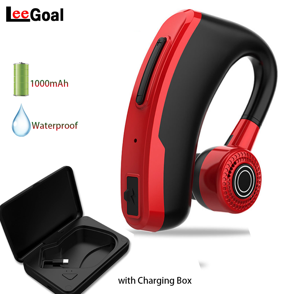 V10 Bluetooth Earphone Sstereo Handsfree Wireless Headphone Smart Car Call Business Noise Cancel Headset with HD Mic Fast Charge