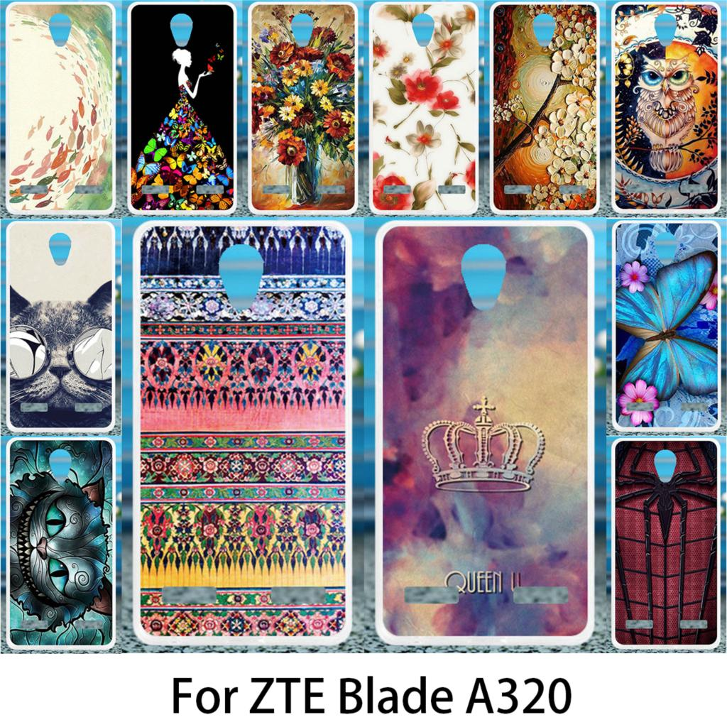 Akabeila Soft Case For ZTE Blade A320 Silicon Cases DIY Patterned For ZTE Blade A320 Anti-knock Cover Coque