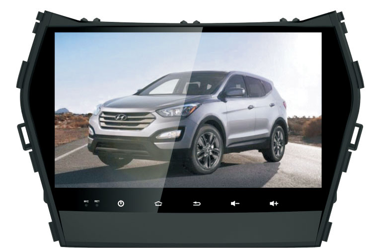 Quad Core 9″ Android 6.0 Car DVD Player for Hyundai IX45/New Santa Fe 2015 santafe head units 3g dvr radio stereo tape recorder