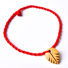 1PC Hot Decent Red Heart Leaf Animal Lock Women Girl Braided Rope Bracelets Fashion Jewelry