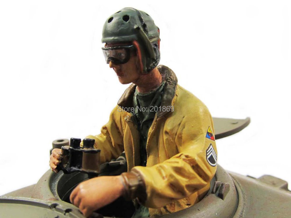 Mato 1:16 1/16 WWII US Tank Commander tank man(half body) in yellow jacket,glasses,figure soldier,toy tank parts коммутатор zyxel gs1100 16 gs1100 16 eu0101f