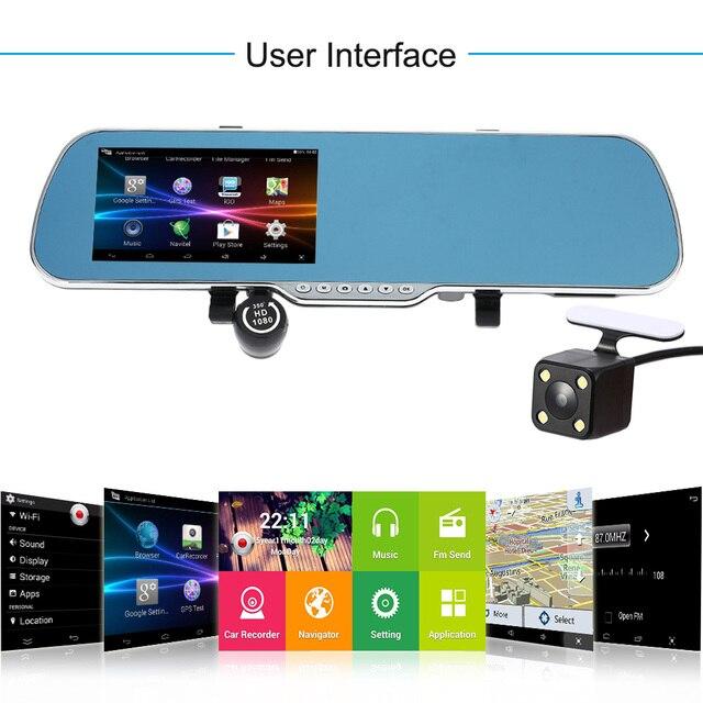 Voiture Lentille Dvr Rétroviseur Gps Navigation Double 5 Android m0wNO8vn
