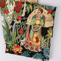 Telas Vintage Frida Kahlo Print Poplin Cotton Patchwork Fabric Meter Sewing Cloth Dress Tecidos Para Artesanato