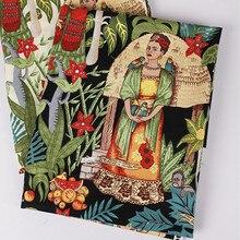 Telas vintage Frida Kahlo druck popeline baumwolle patchwork stoff meter nähen tuch kleid tecidos para artesanato textilmaterial