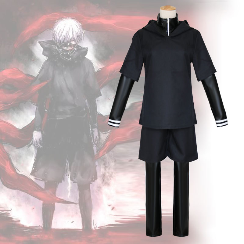 Tokyo Ghoul cos Jin Mu research 4 kinds of combat clothing COSPLAY anime Costume Include Mask