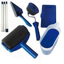 Цена краска бегунок Pro роликовая Кисть ручка инструмент Флокированный Edger офисная комната стены краски ing домашний сад краски ролики набор