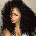 Yvonne brasileño rizado rizado pelo sin procesar brasileño afro rizado curly hair bundles 4 unids brasileño kinky rizado pelo de la virgen
