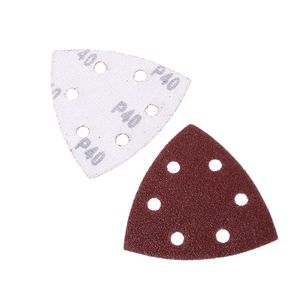 Image 5 - 20pcs Self adhesive Sandpaper Triangle Delta Sander Sand Paper Hook Loop Sandpaper Disc Abrasive Tools For Polishing Grit 40 240