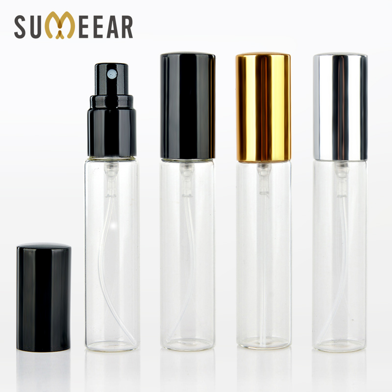ba0d4350ec4a 50PCS/Lot 10ML Portable Perfume Bottle Refillable Perfume Bottles Atomizer  Aluminium Spray Bottle For Travel Empty Glass bottles
