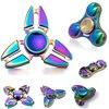 Funny Spinner Fidget Toy EDC Tri Spinner Toys Pattern Hand Spinner Metal Fidget Anti Stress Focus