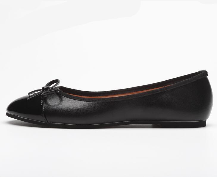 Slip Punta Pictures Plano Moraima Ballet On As Pu Casuales 41 Gran Embarazada Zapatos Redonda Mujer Cuero negro Mariposa Snc Tamaño De Nudo nq4O0ng