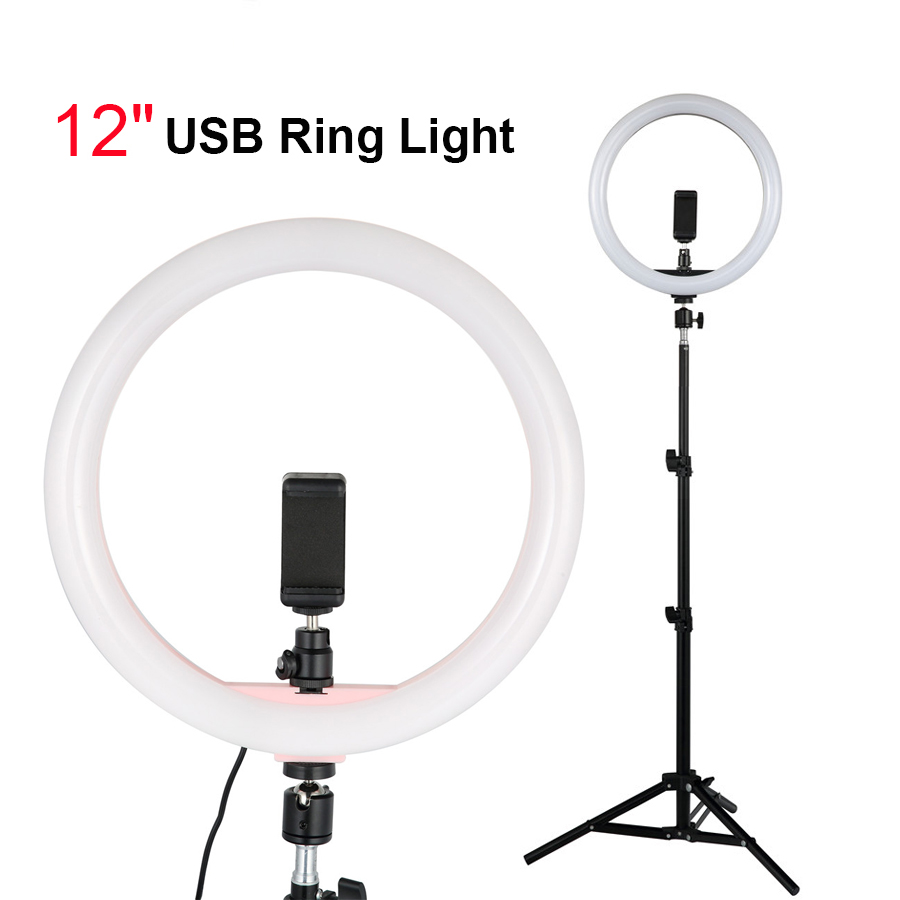 LED Photography Selfie Light with Tripod//Bracket Clip for Live Broadcast//Nail Art//Makeup Dimmable Stutio Video Light LED Ring Light
