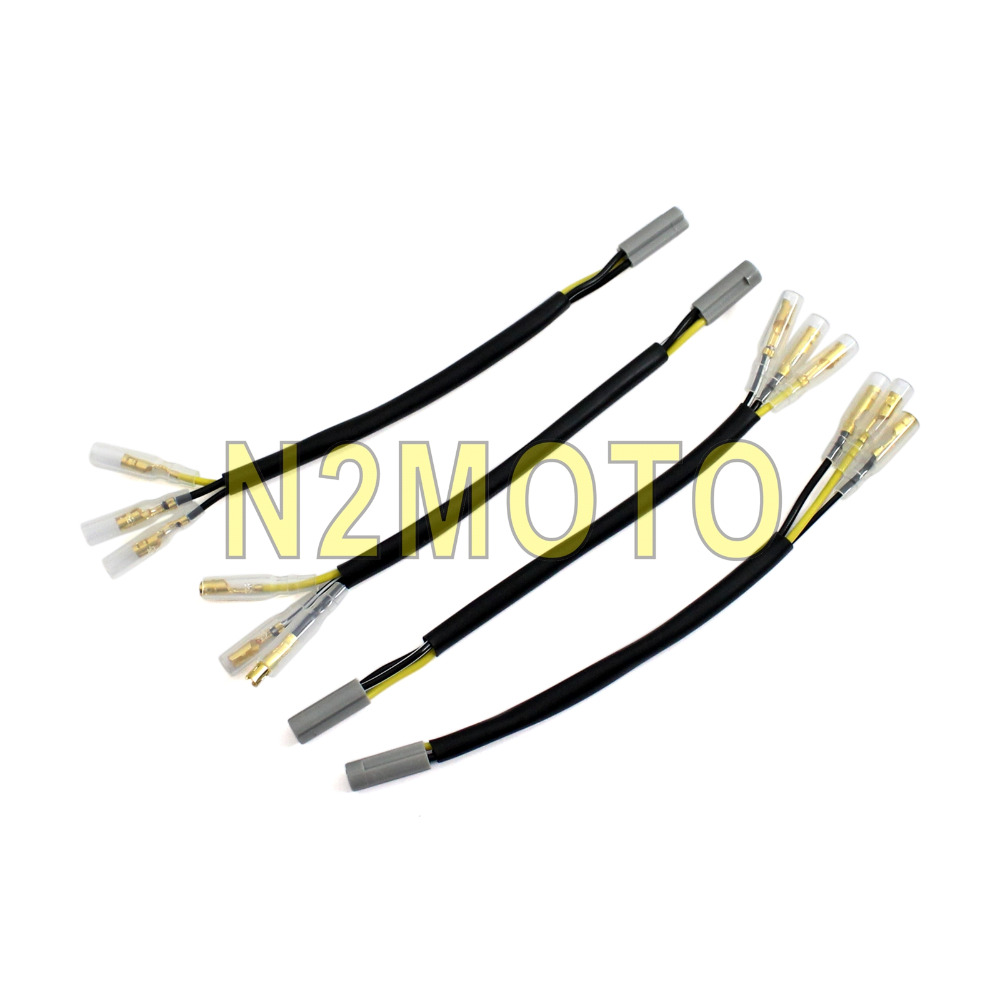 4x Motorcycle Oem Turn Signal Wiring Adapter Plug Harness Connectors 2009 R1 Diagram Front 4 Pcs Wire Plugs Rear 3 Pin Connector For