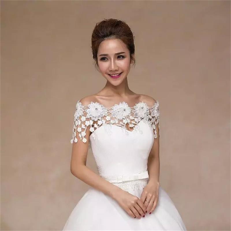 2017 cheap wedding accessories wedding bolero wedding jacket lace appliques bolero women jackets for evening party