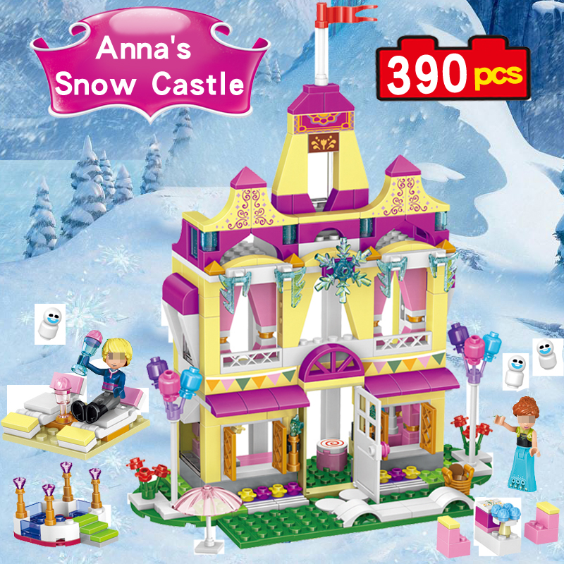 Princess Anna ice castle 37007 prince of the castle Compatible legoed children girl Building Block christmas Figure Bricks toys lepin 16008 4160pcs cinderella princess castle city model building block kid educational toys for gift compatible legoed 71040