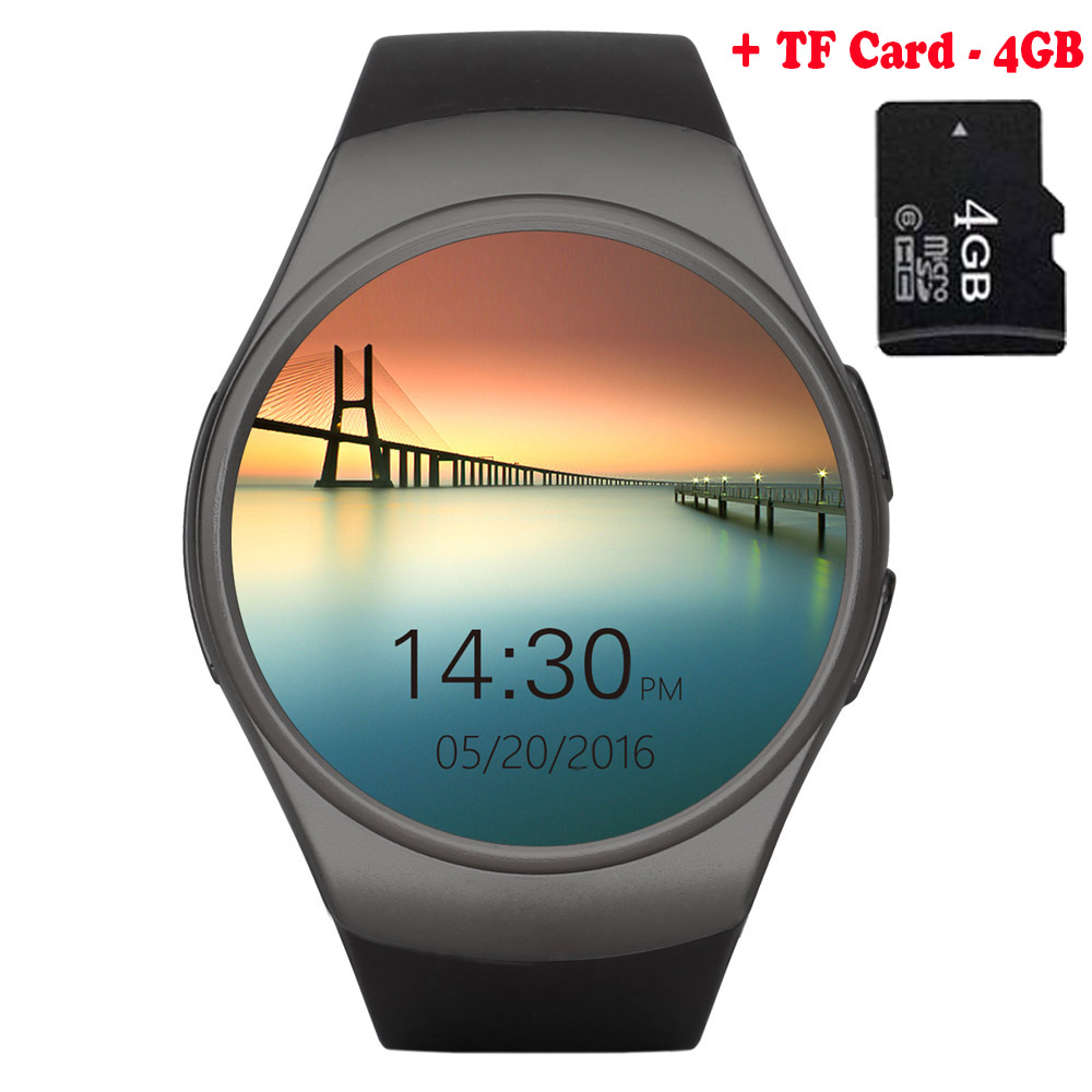[Genuine] KW26 Bluetooth Smart Watch Phone Full Screen Support SIM TF Card Smartwatch Heart Rate for Apple iPhone Gear S2 Huawei s99a 1 33 inch touch screen 3g talk smart watch phone bluetooth 4 0 android 5 1 heart rate monitoring sim card smart watch