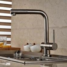 Вытащить кухонный кран на бортике сосуд раковина смеситель одной ручкой отверстие горячей и холодной воды