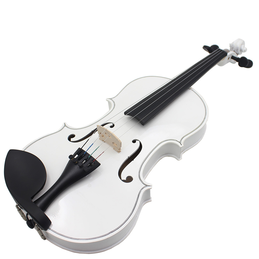 White Solid Wood Natural 4/4 Full Size Violin Fiddle With Case Bow Rosin 4-String Instrument aqjg 18 5v 3 5a 65w laptop notebook power charger adapter for hp pavilion g6 g56 cq60 dv6 g50 g60 g61 g62 g70 g71 g72