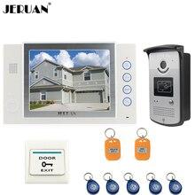 JERUAN 8 inch TFT video door phone doorbell intercom system Home access control system RFID video recording photo taking