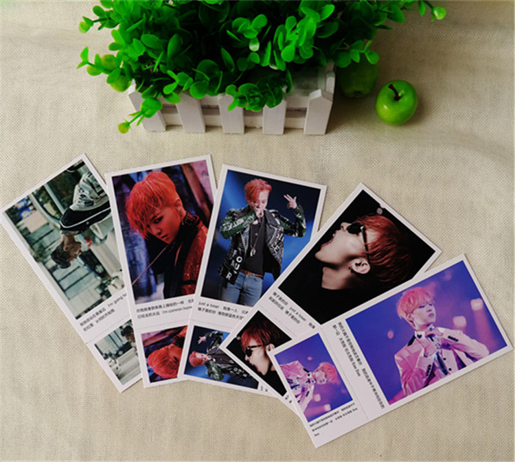 Kpop popular G-Dragon star Bigbang album GD 120 +1 pcs postcard Lyrics K-pop Bigbang Photo LOMO card Book Gift souvenir Sticker