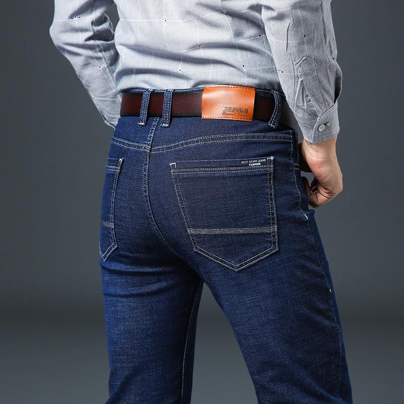 2018 New autumn winter Jeans Men High Quality Famous Brand Denim trousers soft men pants fashion Large Big size plus 40 42 44 46